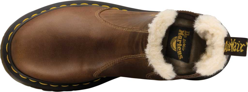 Women's Dr. Martens 2976 Leonore Chelsea Boot, Butterscotch Orleans Textured Waxy Leather, large, image 5