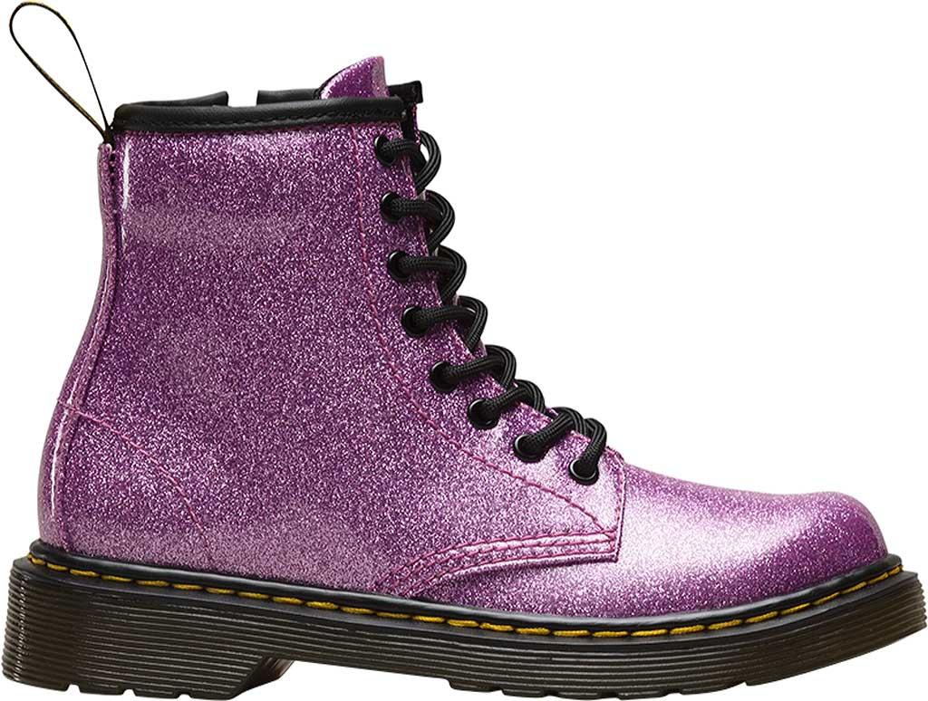 Girls' Dr. Martens 1460 Glitter Boot Junior, Dark Pink Coated Glitter, large, image 2
