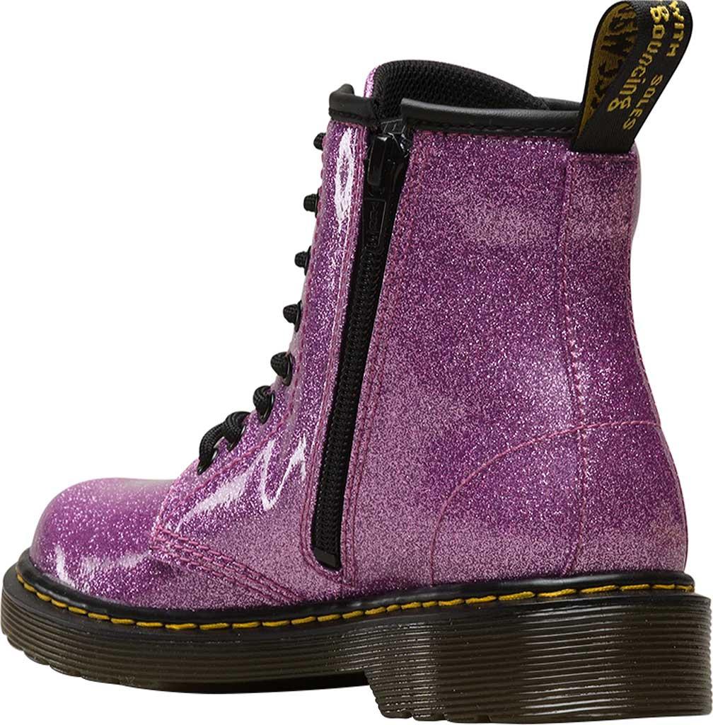 Girls' Dr. Martens 1460 Glitter Boot Junior, Dark Pink Coated Glitter, large, image 3