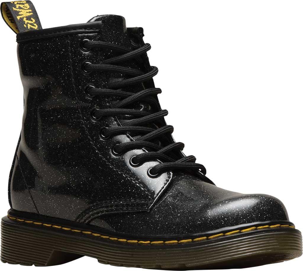 Girls' Dr. Martens 1460 Glitter Boot Junior, Black Coated Glitter, large, image 1