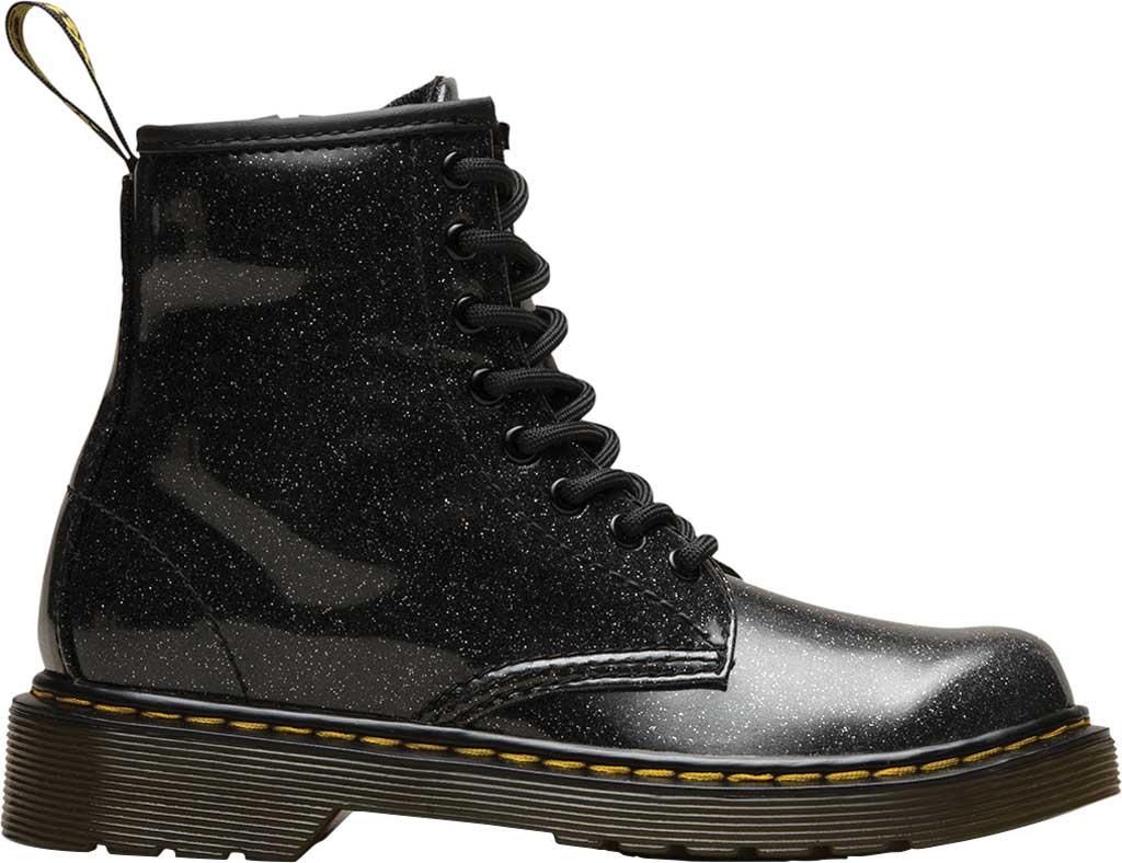 Girls' Dr. Martens 1460 Glitter Boot Junior, Black Coated Glitter, large, image 2