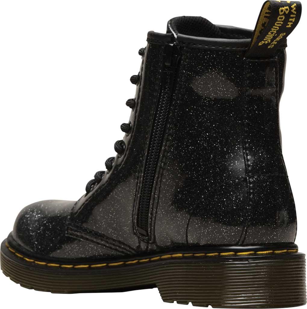 Girls' Dr. Martens 1460 Glitter Boot Junior, Black Coated Glitter, large, image 3