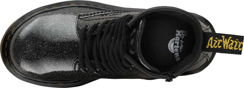 Girls' Dr. Martens 1460 Glitter Boot Junior, Black Coated Glitter, large, image 4