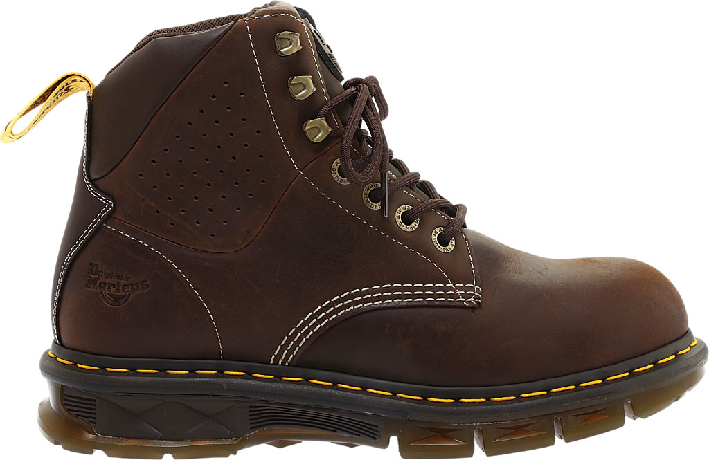 Men's Dr. Martens Work Britton Steel Toe 7-Tie Gibson-Cut Boot, Dark Brown Republic Oily Leather/Tough Nylon, large, image 2