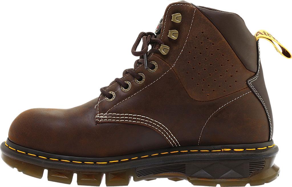 Men's Dr. Martens Work Britton Steel Toe 7-Tie Gibson-Cut Boot, Dark Brown Republic Oily Leather/Tough Nylon, large, image 3