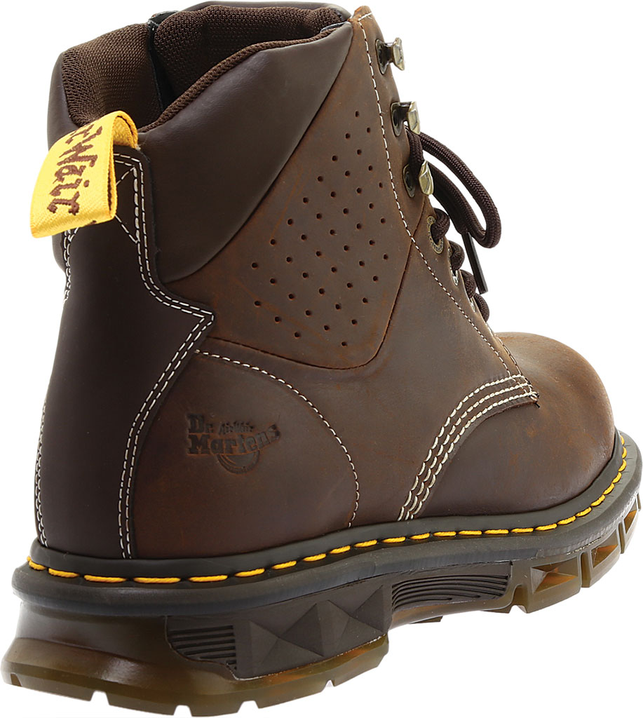 Men's Dr. Martens Work Britton Steel Toe 7-Tie Gibson-Cut Boot, Dark Brown Republic Oily Leather/Tough Nylon, large, image 4