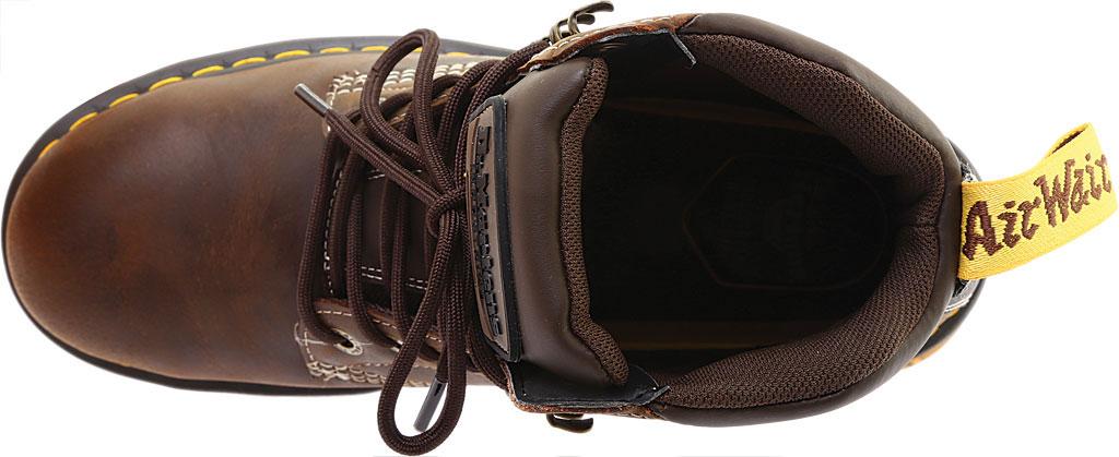 Men's Dr. Martens Work Britton Steel Toe 7-Tie Gibson-Cut Boot, Dark Brown Republic Oily Leather/Tough Nylon, large, image 5