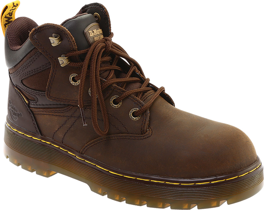 Men's Dr. Martens Work Plenum Waterproof Work Boot, Dark Brown Republic Oily Leather, large, image 1