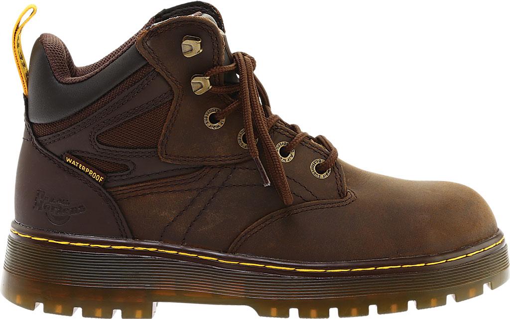 Men's Dr. Martens Work Plenum Waterproof Work Boot, Dark Brown Republic Oily Leather, large, image 2