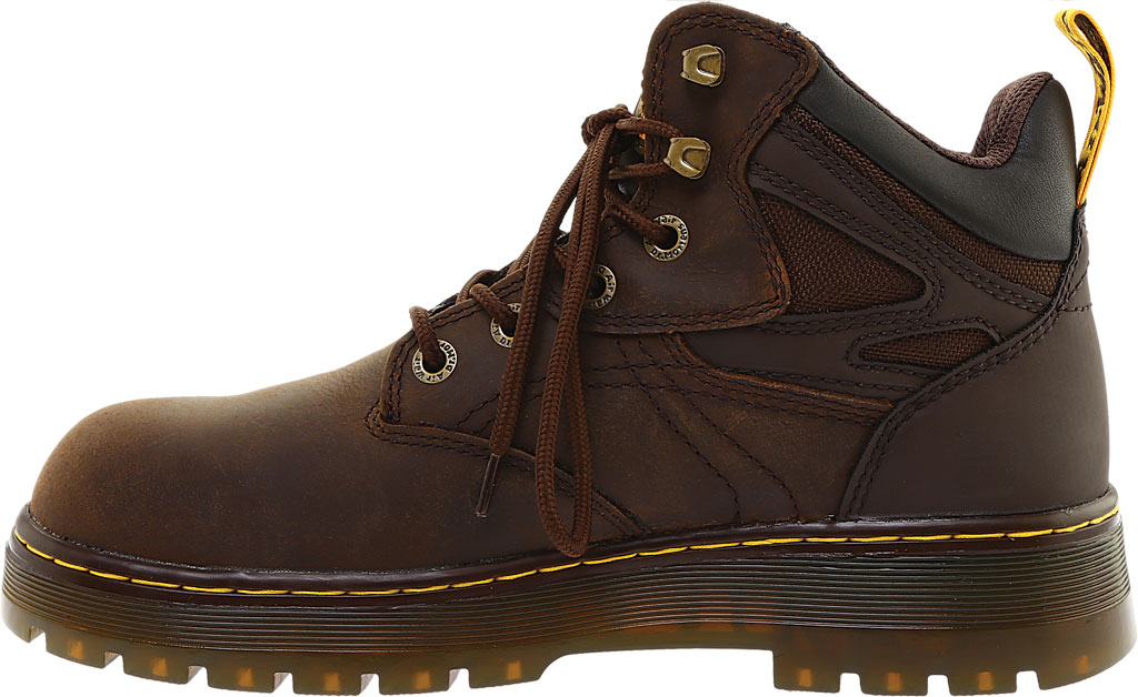Men's Dr. Martens Work Plenum Waterproof Work Boot, Dark Brown Republic Oily Leather, large, image 3