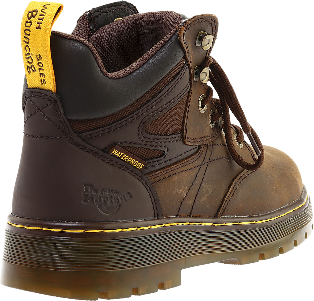 Men's Dr. Martens Work Plenum Waterproof Work Boot, Dark Brown Republic Oily Leather, large, image 4
