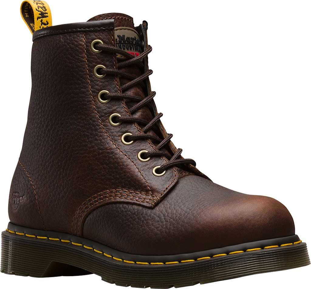 Women's Dr. Martens Work Icon Maple Street Zip Boot, Industrial Bear Teak Leather, large, image 1