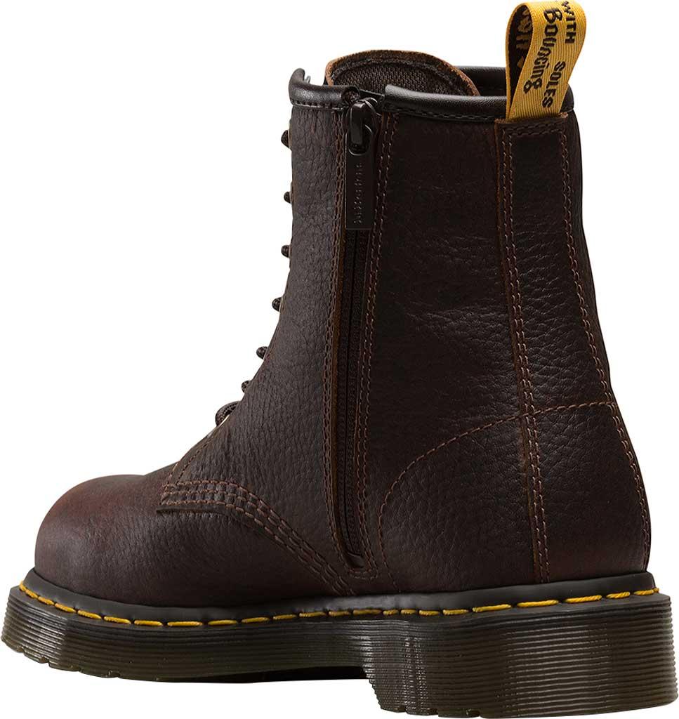 Women's Dr. Martens Work Icon Maple Street Zip Boot, Industrial Bear Teak Leather, large, image 2