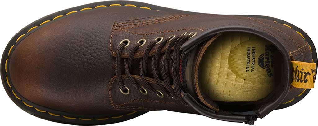 Women's Dr. Martens Work Icon Maple Street Zip Boot, Industrial Bear Teak Leather, large, image 3