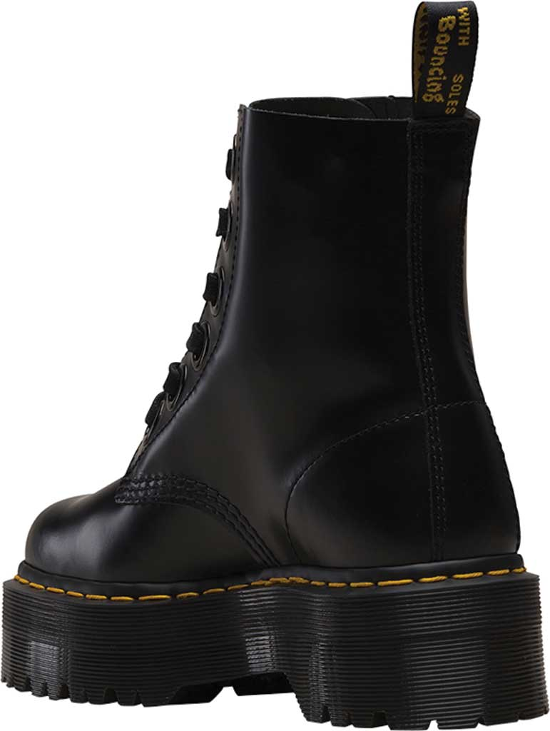 Women's Dr. Martens Molly 6-Eye Boot, Black Buttero Satin Gloss Leather, large, image 3
