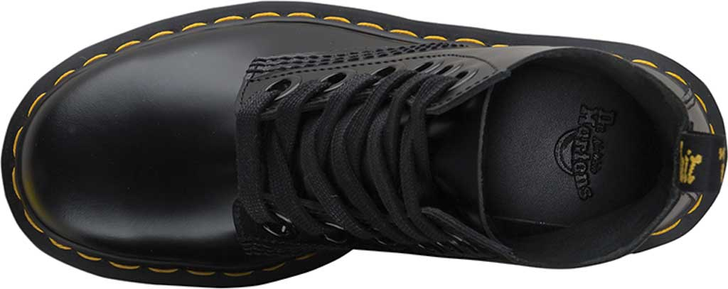 Women's Dr. Martens Molly 6-Eye Boot, Black Buttero Satin Gloss Leather, large, image 4