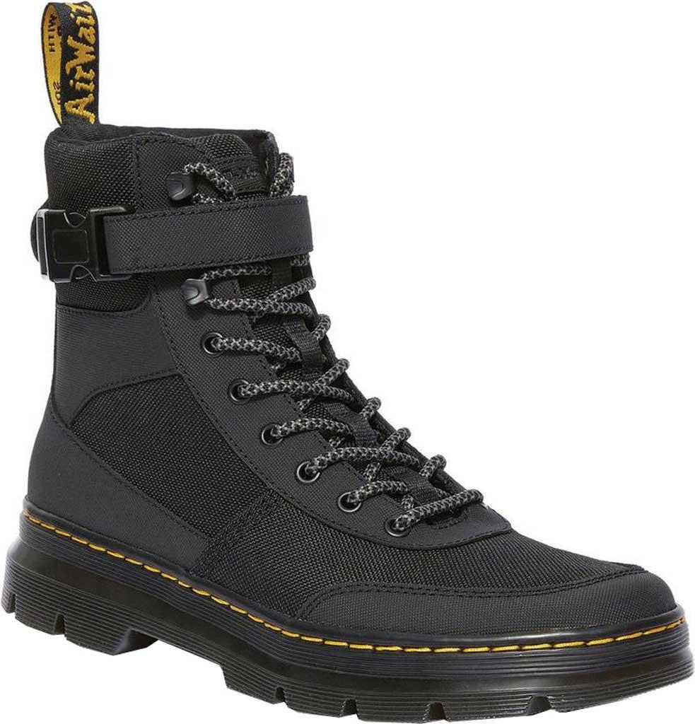 Dr. Martens Combs Tech 8-Eye Boot, Black Extra Tough Nylon/Ajax, large, image 1