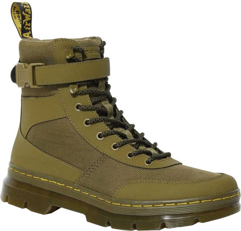 Dr. Martens Combs Tech 8-Eye Boot, DMS Olive Extra Tough Nylon/Ajax, large, image 1