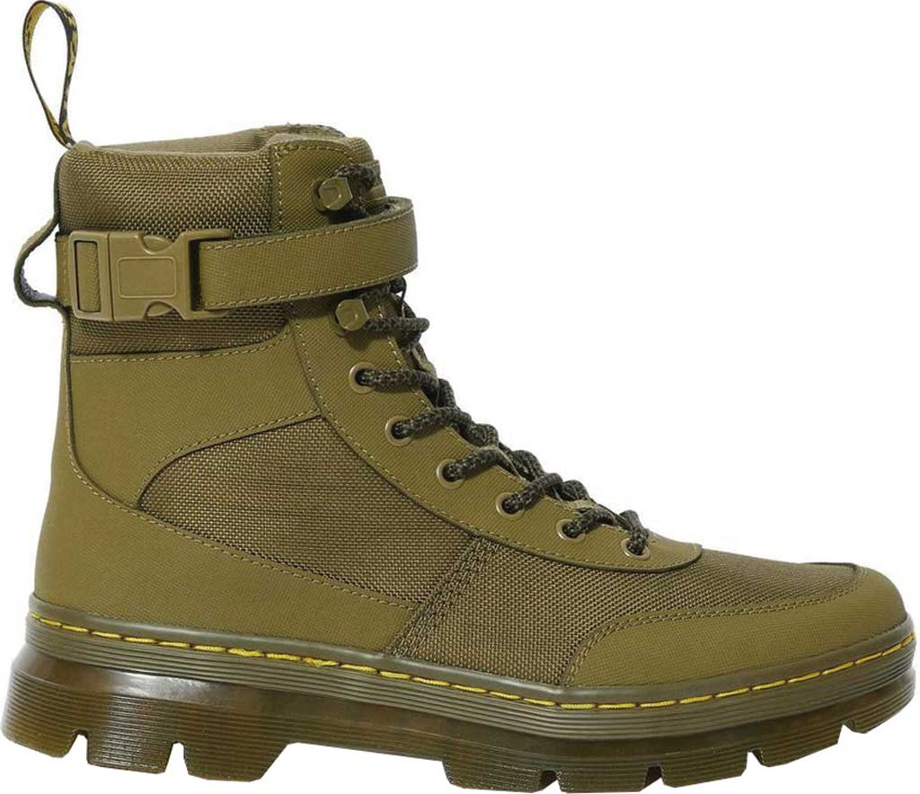 Dr. Martens Combs Tech 8-Eye Boot, DMS Olive Extra Tough Nylon/Ajax, large, image 2