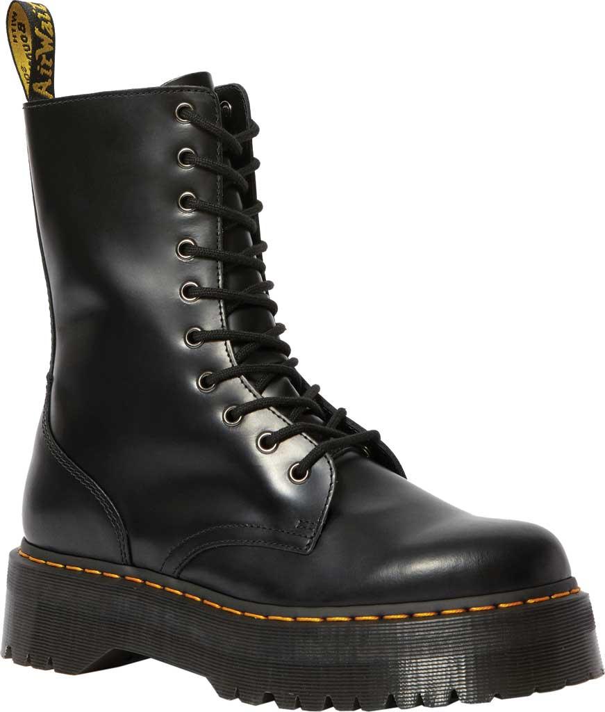 Dr. Martens Jadon Hi Platform Boot, Black Polished Smooth Leather, large, image 1