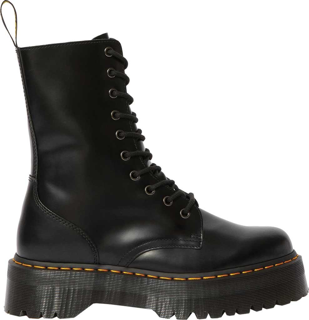 Dr. Martens Jadon Hi Platform Boot, Black Polished Smooth Leather, large, image 2