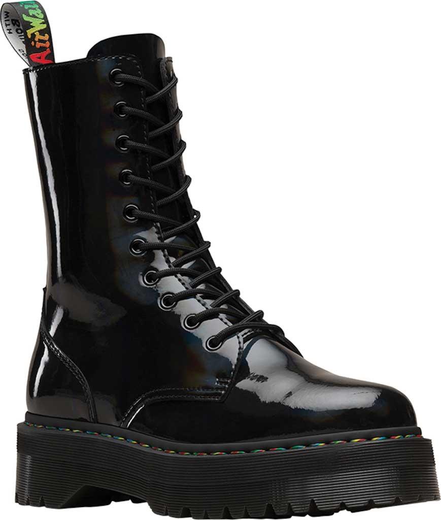 Dr. Martens Jadon Hi Platform Boot, Black Rainbow Patent Leather, large, image 1
