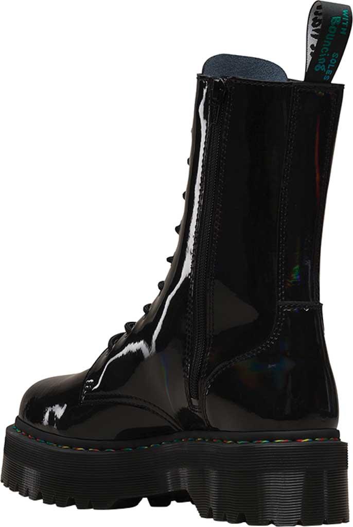 Dr. Martens Jadon Hi Platform Boot, Black Rainbow Patent Leather, large, image 3