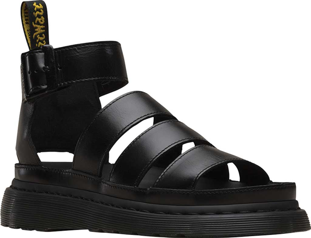 Women's Dr. Martens Clarissa II Gladiator Sandal, Black Brando Full Grain Waxy Leather, large, image 1