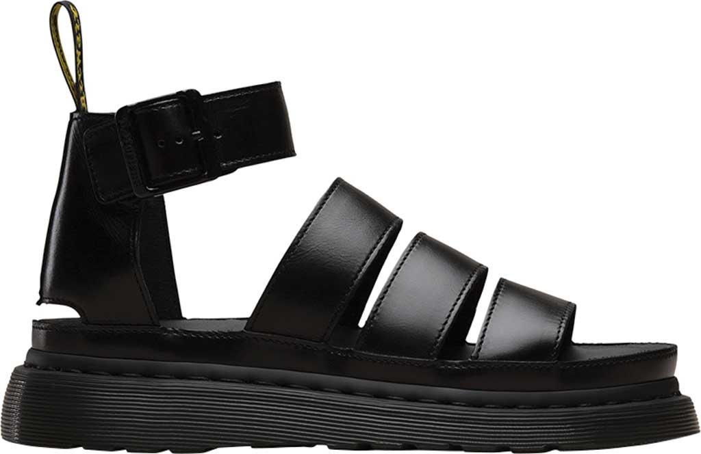 Women's Dr. Martens Clarissa II Gladiator Sandal, Black Brando Full Grain Waxy Leather, large, image 2