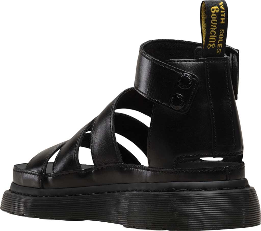 Women's Dr. Martens Clarissa II Gladiator Sandal, Black Brando Full Grain Waxy Leather, large, image 3