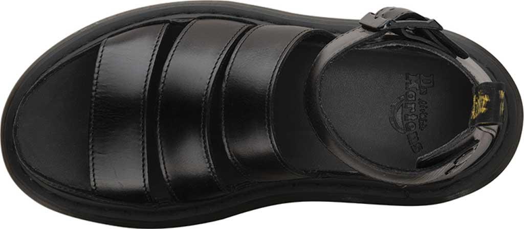 Women's Dr. Martens Clarissa II Gladiator Sandal, Black Brando Full Grain Waxy Leather, large, image 4