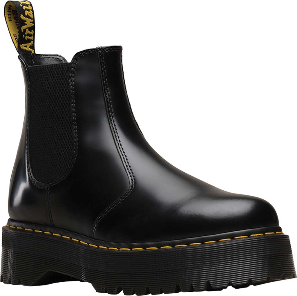Dr. Martens 2976 Quad Chelsea Boot, Black Polished Smooth Leather, large, image 1