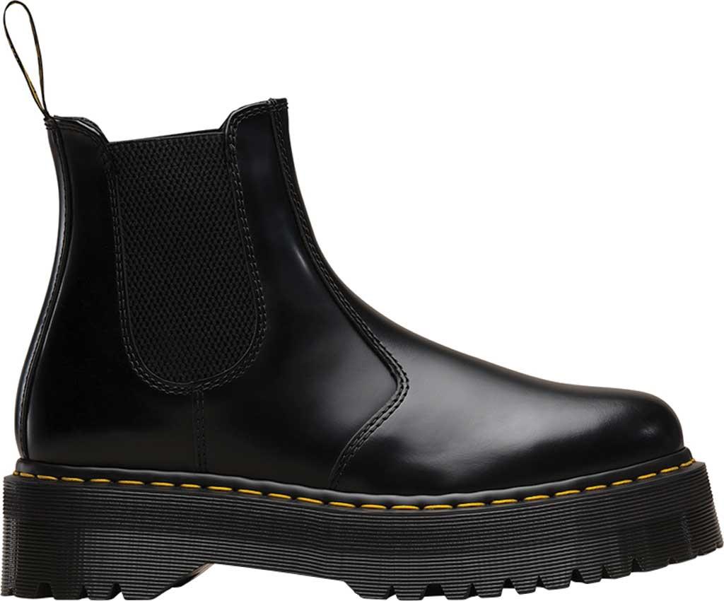 Dr. Martens 2976 Quad Chelsea Boot, Black Polished Smooth Leather, large, image 2