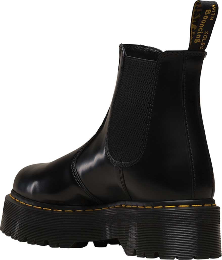Dr. Martens 2976 Quad Chelsea Boot, Black Polished Smooth Leather, large, image 3