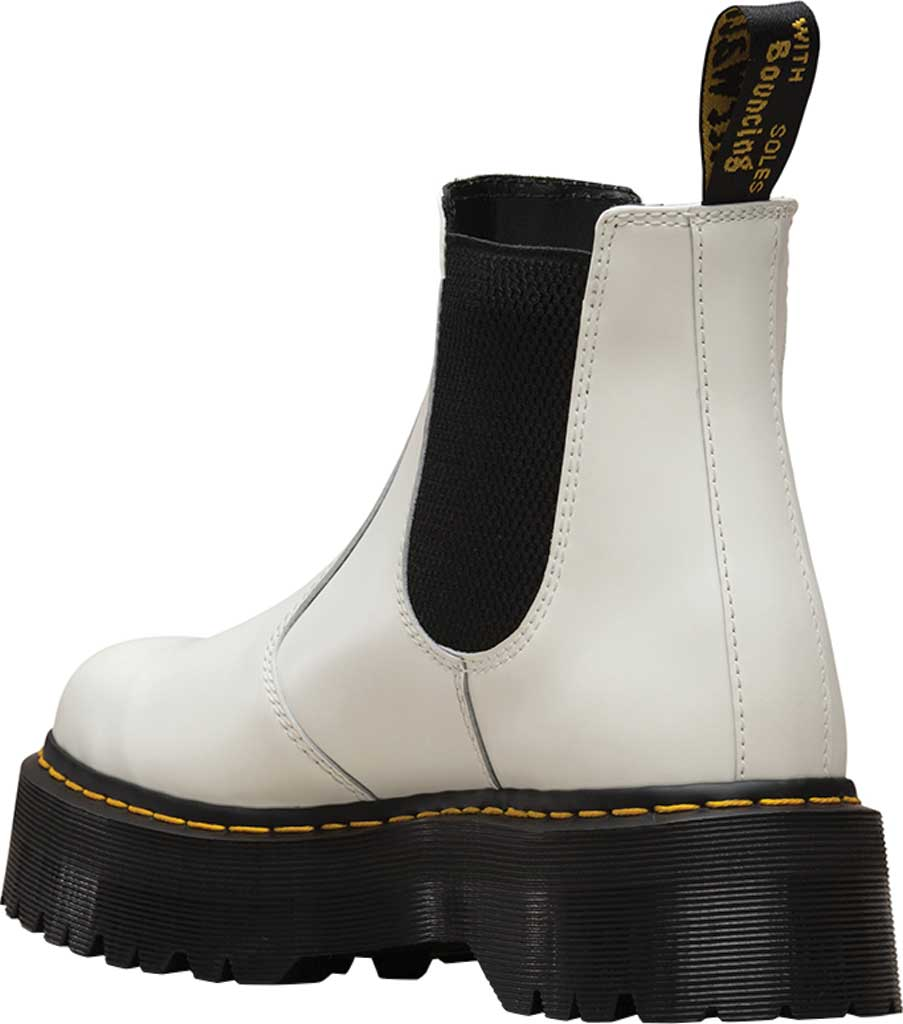 Dr. Martens 2976 Quad Chelsea Boot, White Smooth Polished Smooth Leather, large, image 3