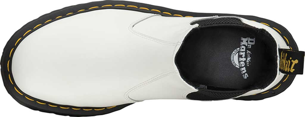 Dr. Martens 2976 Quad Chelsea Boot, White Smooth Polished Smooth Leather, large, image 4