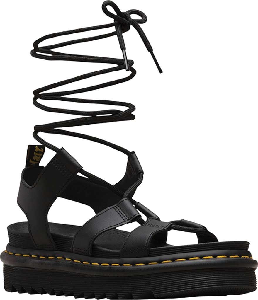 Women's Dr. Martens Nartilla Gladiator Sandal, Black Hydro Leather, large, image 1