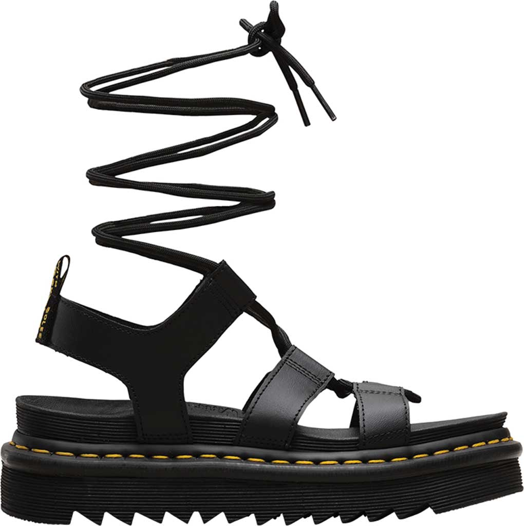 Women's Dr. Martens Nartilla Gladiator Sandal, Black Hydro Leather, large, image 2