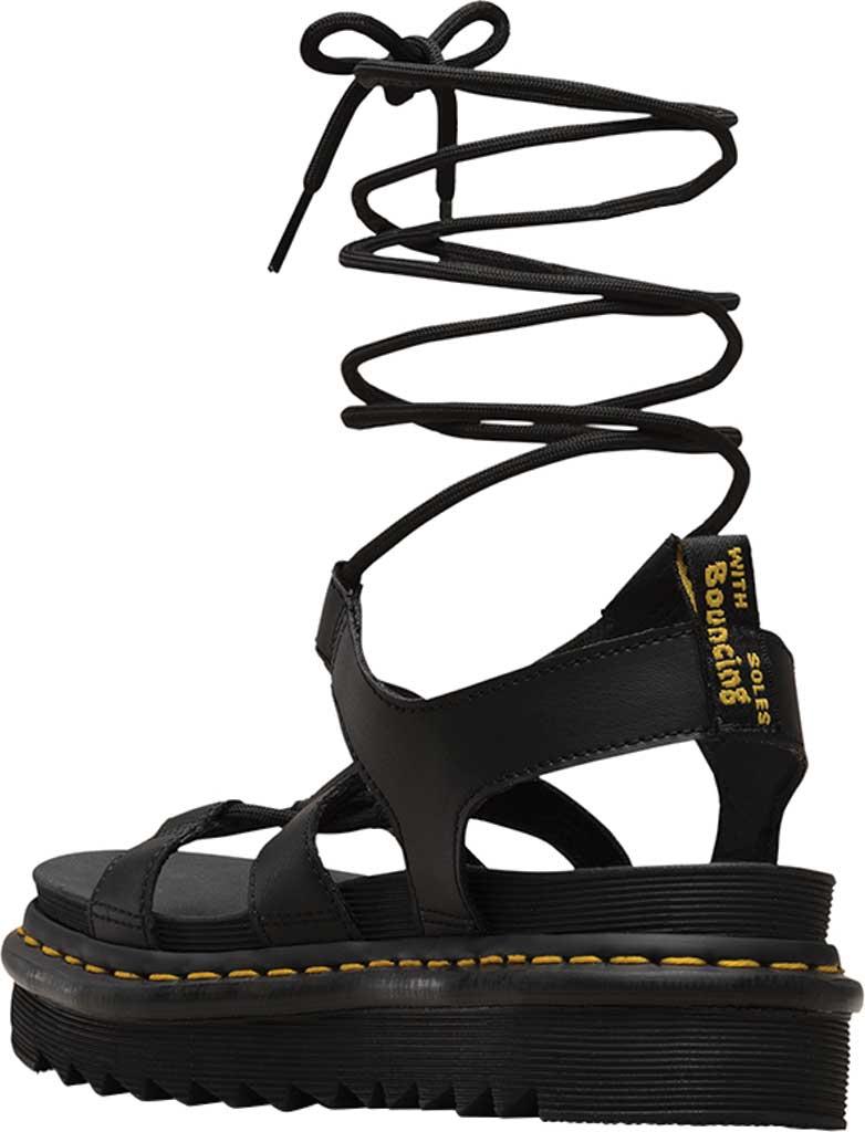 Women's Dr. Martens Nartilla Gladiator Sandal, Black Hydro Leather, large, image 3