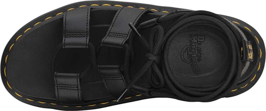 Women's Dr. Martens Nartilla Gladiator Sandal, Black Hydro Leather, large, image 4