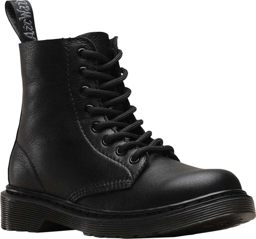 Boys' Dr. Martens 1460 Pascal Mono Boot Junior, Black Virginia Leather, large, image 1