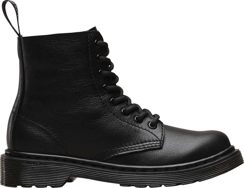 Boys' Dr. Martens 1460 Pascal Mono Boot Junior, Black Virginia Leather, large, image 2