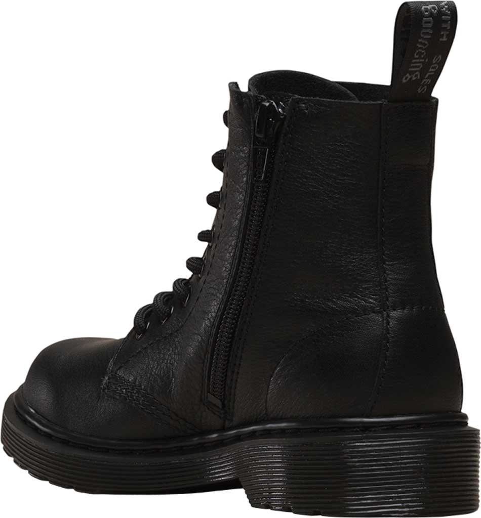 Boys' Dr. Martens 1460 Pascal Mono Boot Junior, Black Virginia Leather, large, image 3