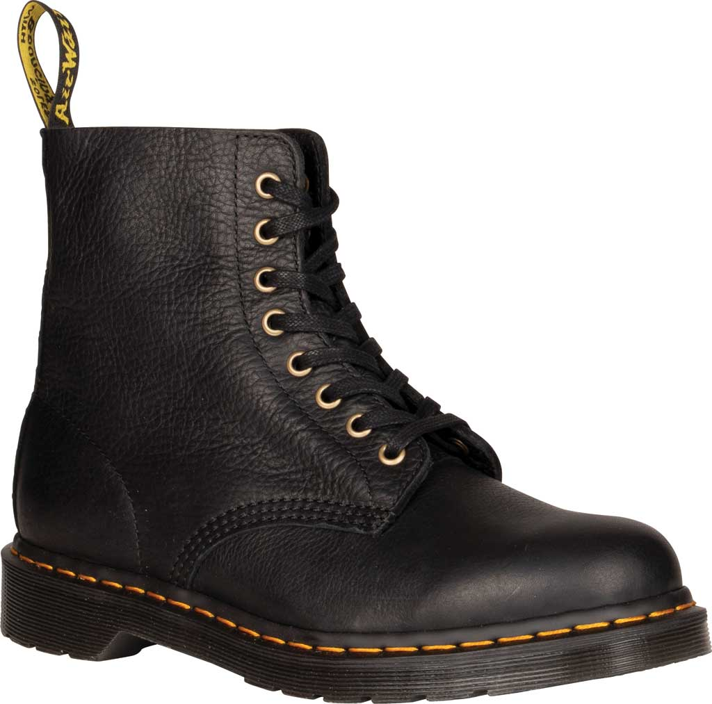 Dr. Martens 1460 Leather 8-Eye Boot, Black Ambassador Tumbled Oily Leather, large, image 1