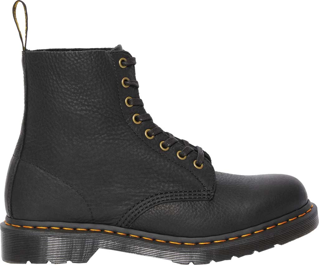 Dr. Martens 1460 Leather 8-Eye Boot, Black Ambassador Tumbled Oily Leather, large, image 2