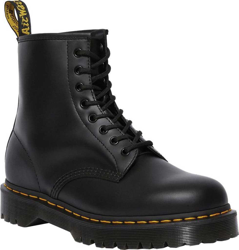 Dr. Martens 1460 Leather 8-Eye Boot, Black Smooth Leather, large, image 1
