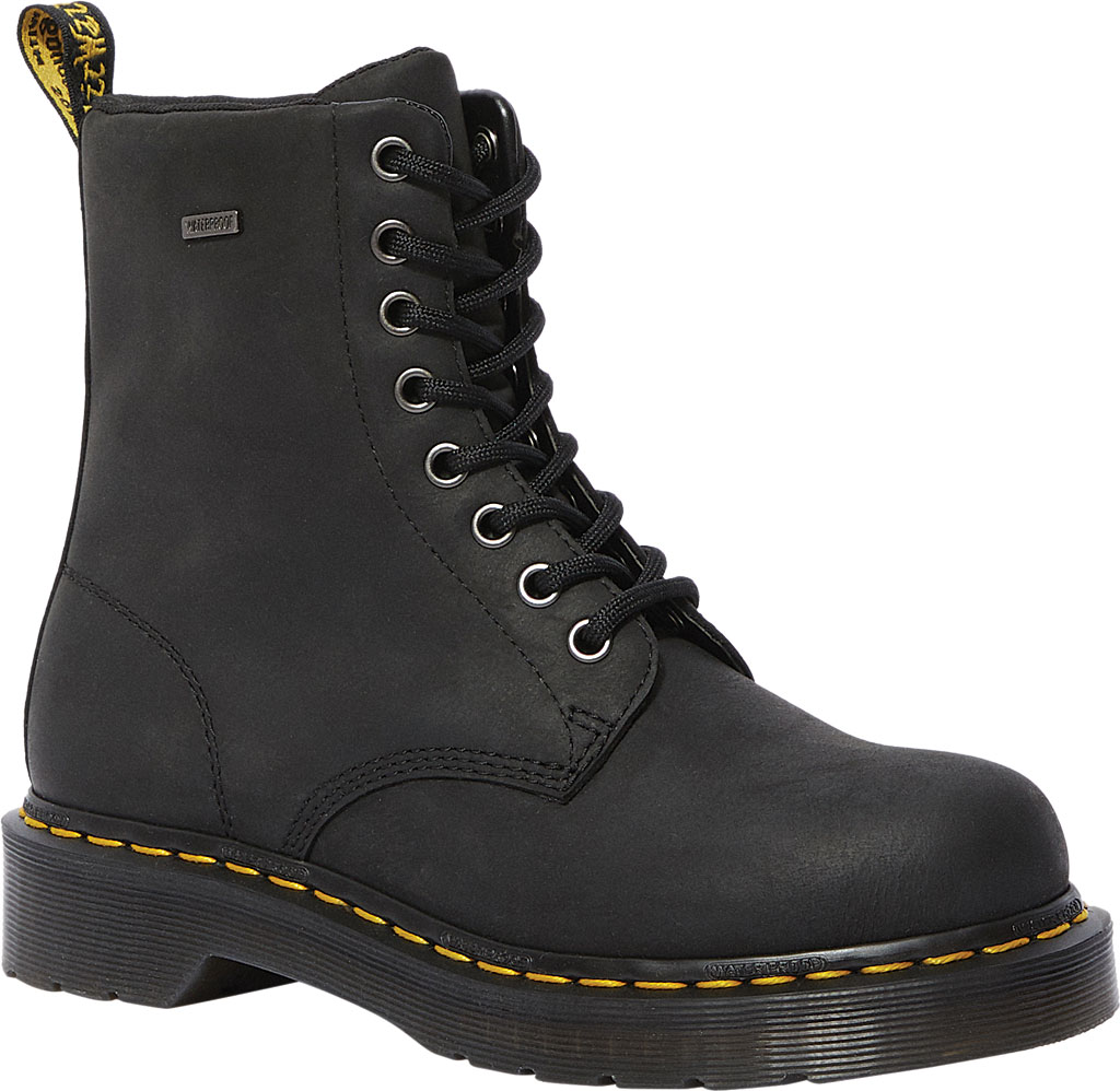 Women's Dr. Martens 1460 Waterproof Boot, Black Republic Oily Leather, large, image 1