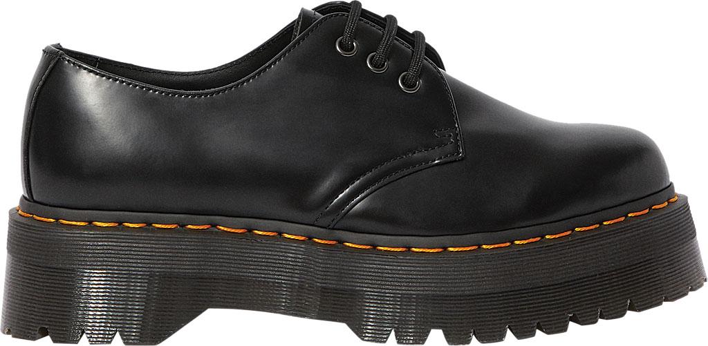 Dr. Martens 1461 Quad Platform Oxford, Black Polished Smooth Leather, large, image 2
