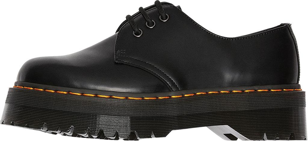 Dr. Martens 1461 Quad Platform Oxford, Black Polished Smooth Leather, large, image 3