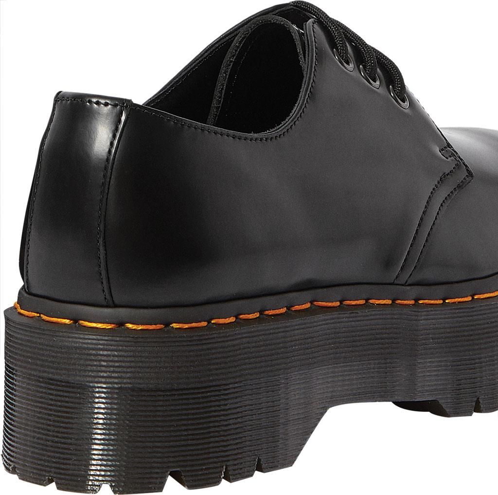 Dr. Martens 1461 Quad Platform Oxford, Black Polished Smooth Leather, large, image 4